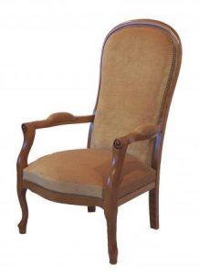 Fauteuil Voltaire Violon - à partir de 730,00 € - Haut. 112 cm Profondeur 67 cm Larg. 61cm - haut. assise 37 cm - + 1,70 mètres de tissu