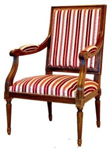 Fauteuil Jacob Louis Xvi - à partir de 850,00 € - Haut. 92 cm Profondeur 56 cm Larg. 61 cm - haut. assise 37 cm - + 1,20 mètres de tissu