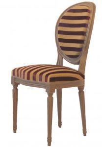 Chaise Medaillon Louis Xvi - à partir de 650,00 € - Haut. 97 cm Profondeur 55 cm Larg. 48 cm - haut. assise 47 cm - + 1,00 mètres de tissu