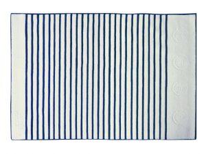 Tapis Ancre Ecru Et Indigo - 2 200 € - 200 x 300 cm - laine 100%